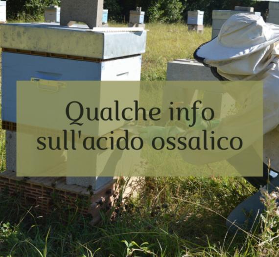 Qualche informazione sull'acido ossalico